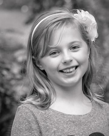 Black and white child portrait  Photographer