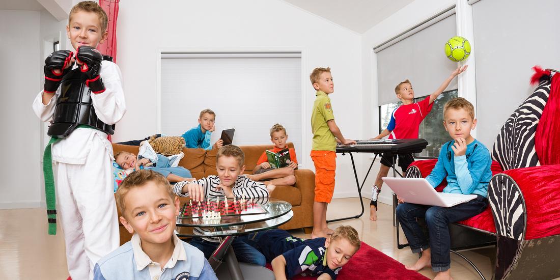 Kirkland Photographer - Child portrait with multiple clones