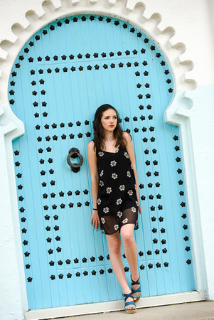 Issaquah's Morrocan door fashion portrait