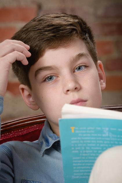 Kirkland photography of a serious kid