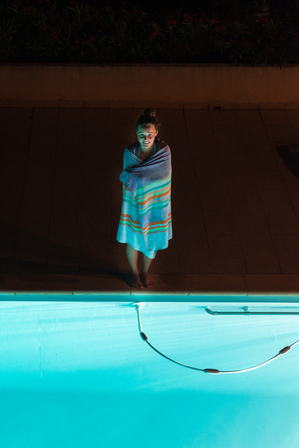 Night Swimming pool photography