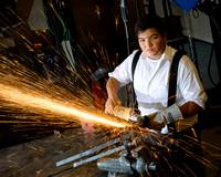 Activity based Senior picture - Welding