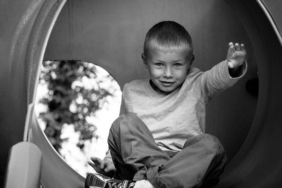 Professional child portrait - playground in Redmond