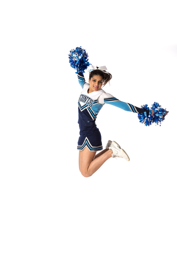 Interlake Cheerleader jump - Divya