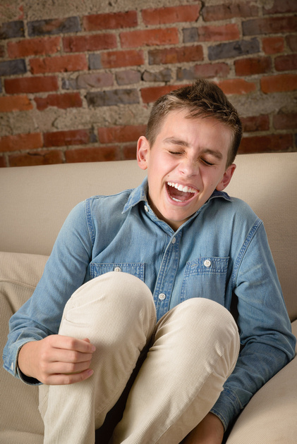 Kirkland photography of a laughing boy