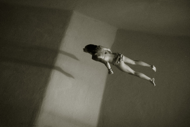 Night Swimming pool photography - Stillness