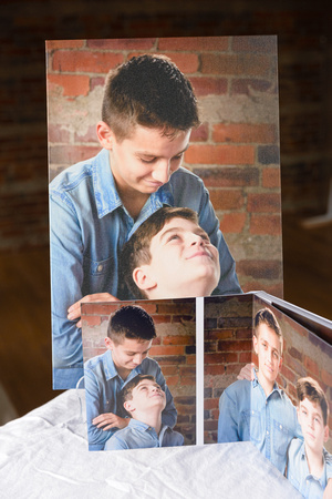 Kirkland Photographer - Session album and canvas